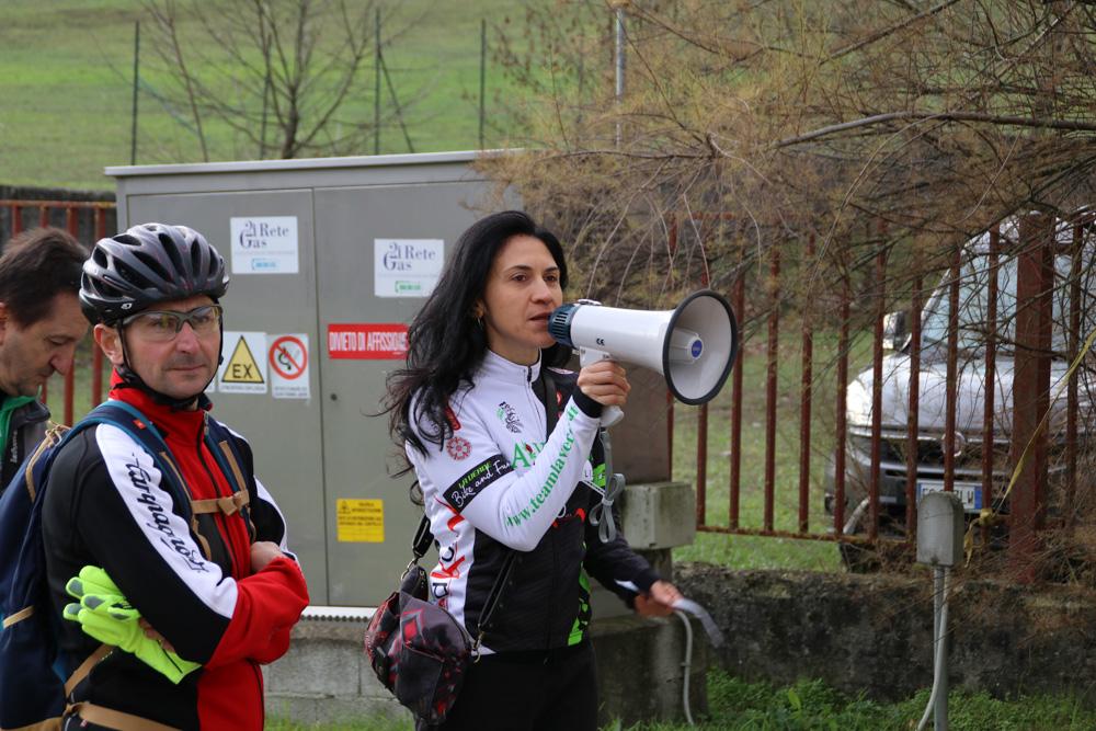 Anna Celenta (io), nei panni dell'organizzatore insieme a Michele Albieri, papà del piccolo Andrea.