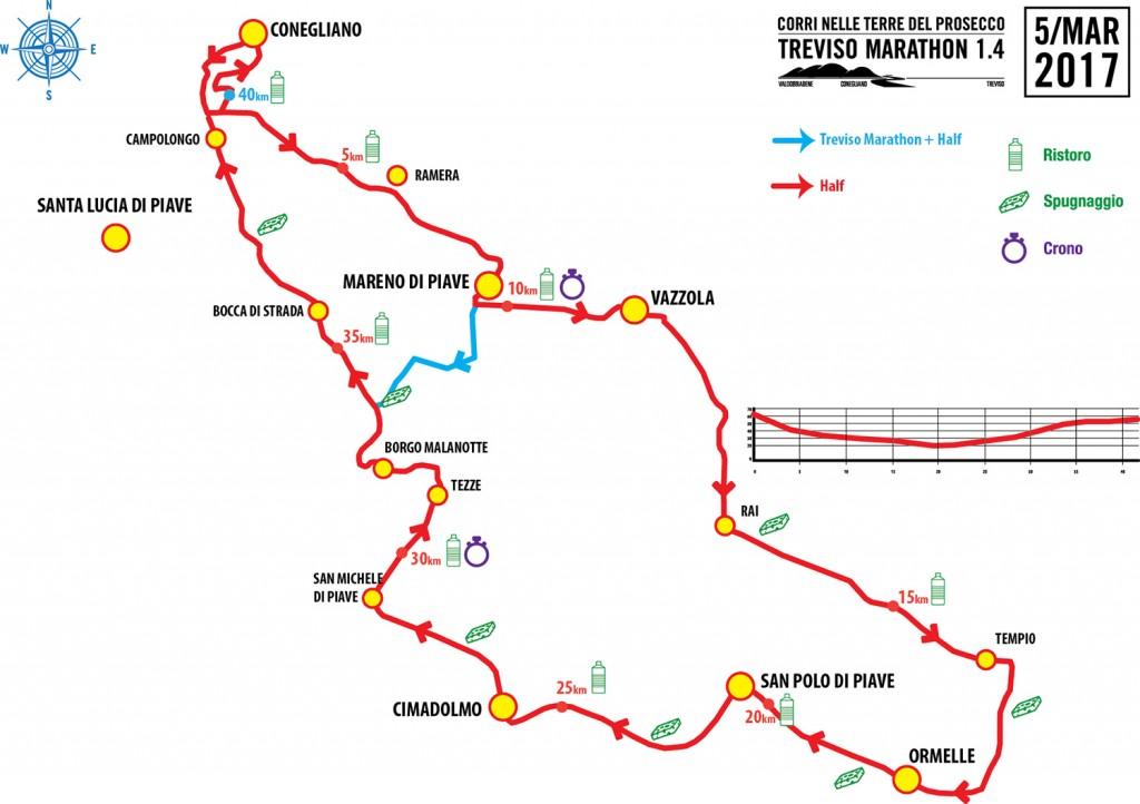 mappa percorso Treviso Marathon 1.4