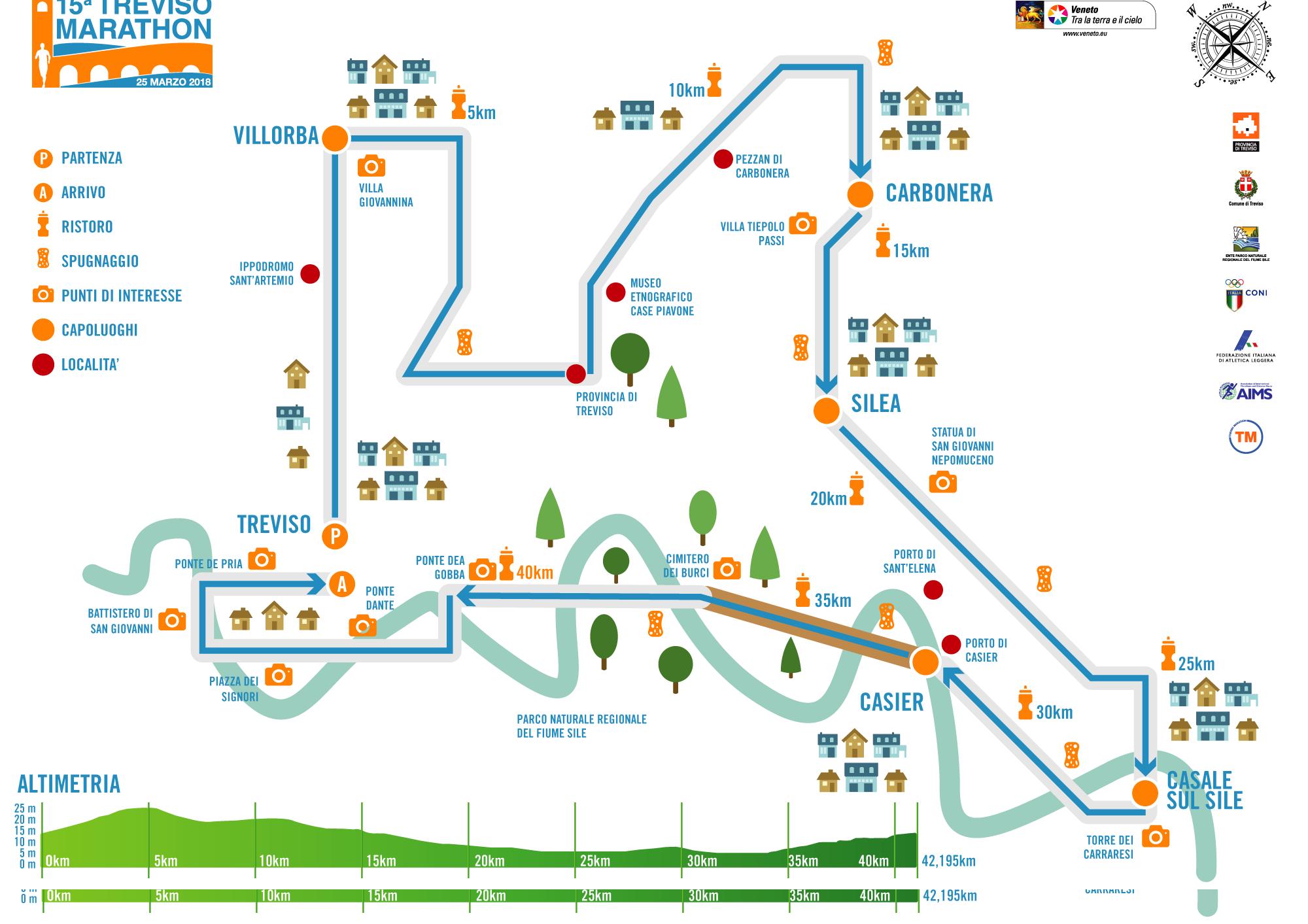 Treviso marathon 2018 ecco il percorso endumag - Palestra casale sul sile ...